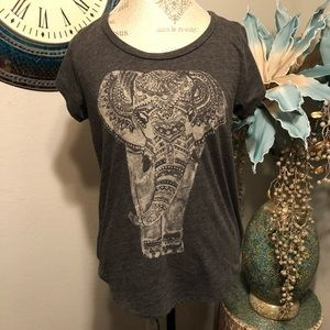 Lucky Brand Tops - Lucky Brand Elephant Graphic shirt size Large